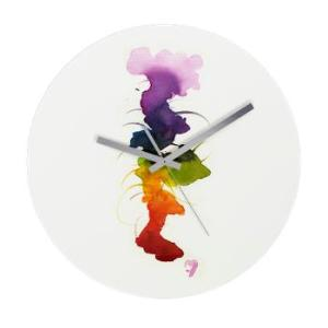 little chakra tree Frameless Wall Clock [2]