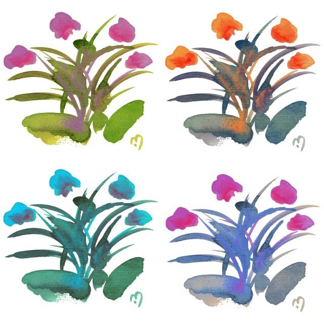 Atom Flowers #34 in 4 colors
