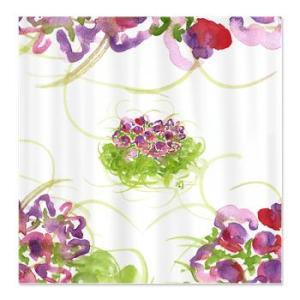 atom_flowers_36_shower_curtain