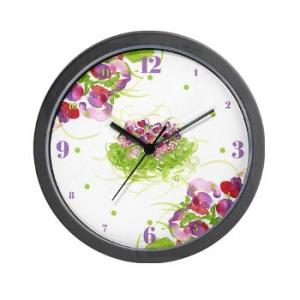 atom_flowers_36_wall_clock