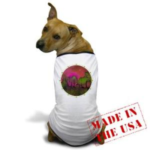 the_woods_ii_magenta_dog_tshirt