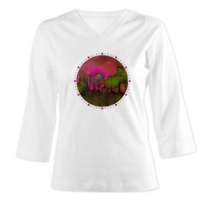 the_woods_ii_magenta_dots_womens_long_sleeve_shirt_34_sleeve
