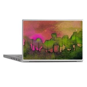 the_woods_ii_magenta_laptop_skins