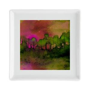 the_woods_ii_magenta_square_cocktail_plate