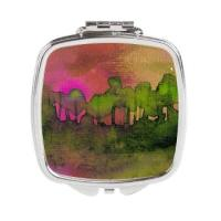 the_woods_ii_magenta_square_compact_mirror