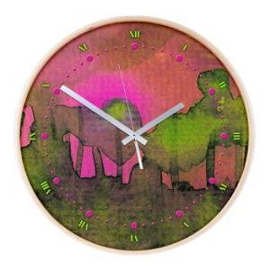 the_woods_ii_magenta_wall_clock-1
