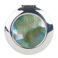 trees_by_the_sea_2_round_compact_mirror