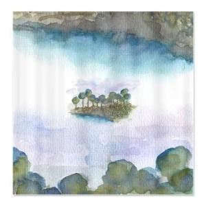 trees_by_the_sea_2_shower_curtain