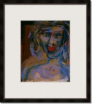 female portrait framed