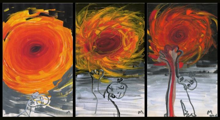 reaching triptych©marina kanavaki