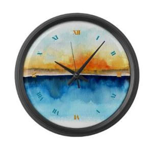 orange_rays_permeate_large_wall_clock