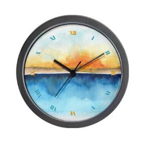 orange_rays_permeate_wall_clock