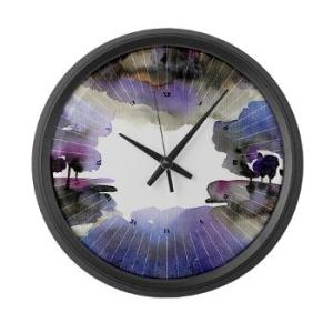 the_woods_v_large_wall_clock