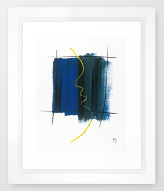 Character No6 framed print society 6