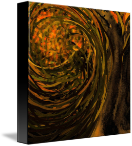 forest #4 on stretched canvas