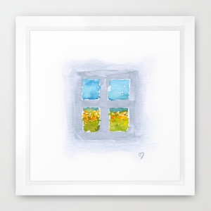 Window No6 framed print Society6