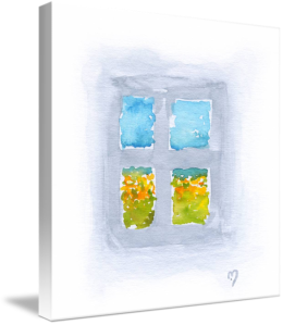 Window 6 on stretched canvas